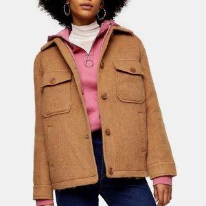 ✨NWT TopShop Wool Tan Jacket